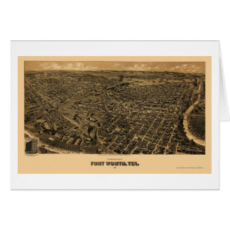 Fort Worth, carte panoramique de TX - 1891