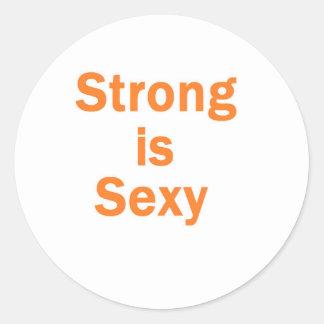 Forte est l orange sexy adhésifs