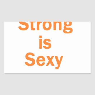 Forte est l orange sexy autocollant en rectangle