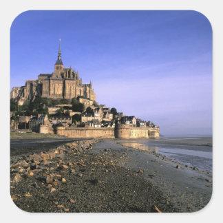 Forteresse d'île de St Michel de Famous Le Mont Sticker Carré