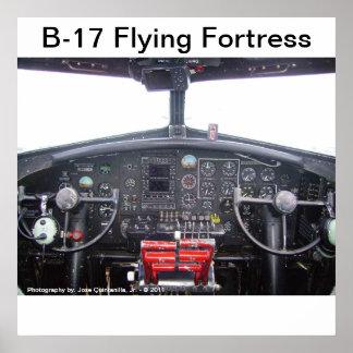 Forteresse du vol B-17 - affiche Posters