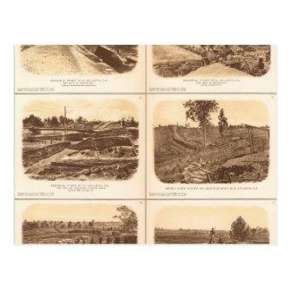 Forts, batteries, Atlanta, GA Carte Postale