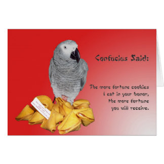 Fortune de bonne chance carte de vœux