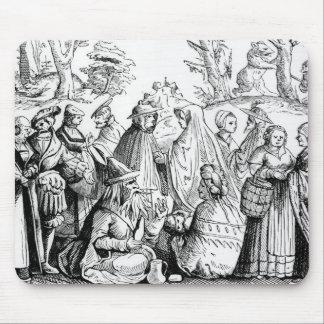 Fortune de gitans indiquant, après une gravure sur tapis de souris