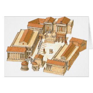 Forum impérial. Rome. Vue aérienne Carte De Vœux