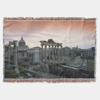 Forum romain à l'aube couvre pied de lit