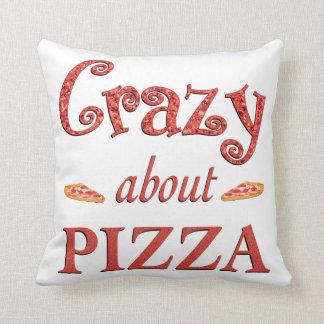 Fou au sujet de la pizza oreiller