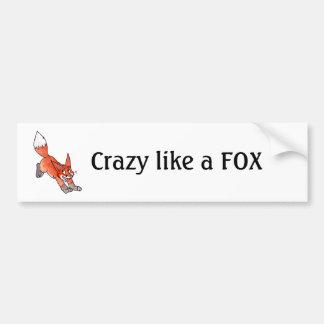 Fou comme un adhésif pour pare-chocs de Fox Autocollant Pour Voiture