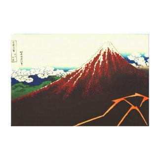 Foudre au-dessous de Fuji rouge 1826 Toiles