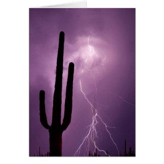 Foudre et cactus pourpres, AZ Cartes