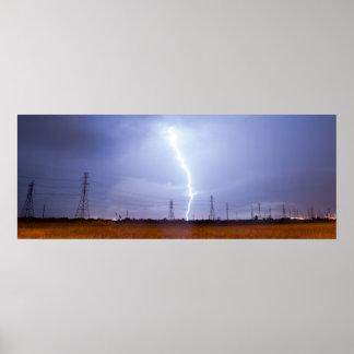 Foudre Galveston d'orage de tempête électrique Posters
