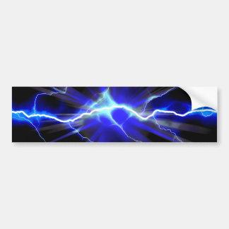 Foudre rougeoyante bleue ou électricité autocollant de voiture
