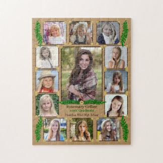 Fougère de toile de jute du collage   de photo puzzles