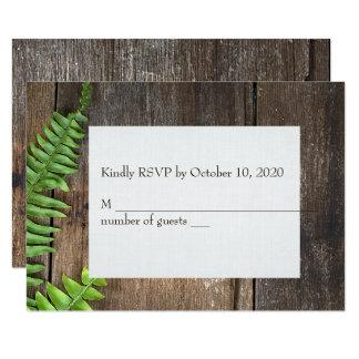 fougère sur le bois RSVP Carton D'invitation 8,89 Cm X 12,70 Cm