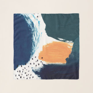 Foulard Abstraction bleue