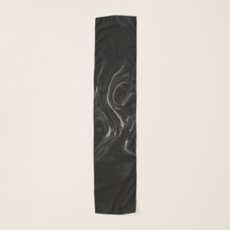 Foulard Art abstrait d'énergie noire de plasma