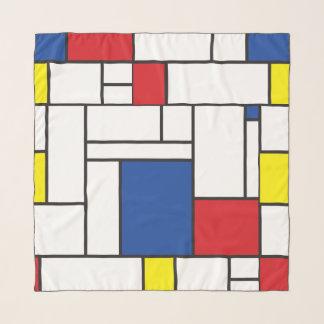 Foulard Art moderne coloré minimaliste de Mondrian de