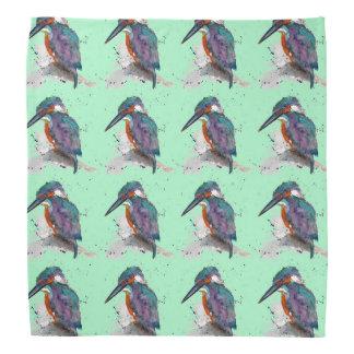Foulard avec des oiseaux de glace handgemalten