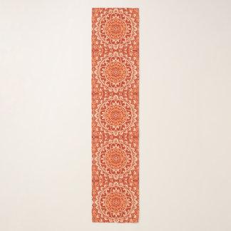 Foulard Batik du sud-ouest de mandala de Sun, orange de