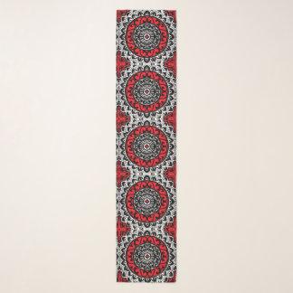 Foulard Batik, rouge, noir et blanc du sud-ouest de
