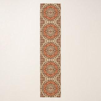 Foulard Batik, rouille et Brown du sud-ouest de mandala de