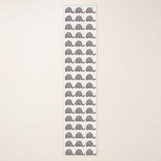 Foulard Beau motif en spirale chic d'éléphants