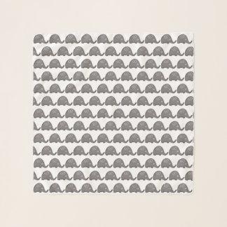 Foulard Beau motif en spirale mignon d'éléphants