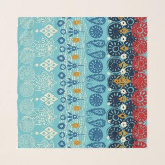 Foulard bleu de bloc de lotus