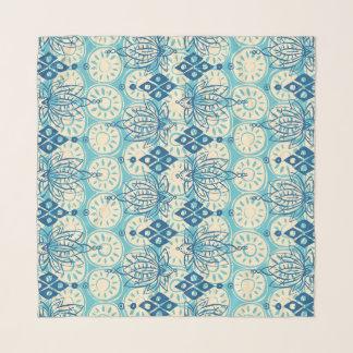 Foulard bleu de diamant de lotus