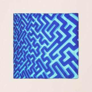 Foulard Bleu de labyrinthe