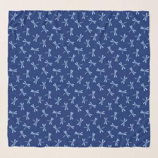 Foulard Bleu japonais de motif, de cobalt et de ciel de