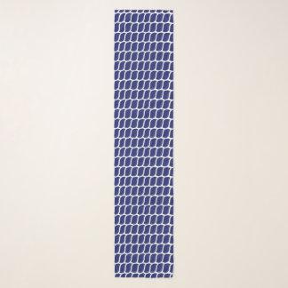 Foulard Bleu marine nautique de motif de corde
