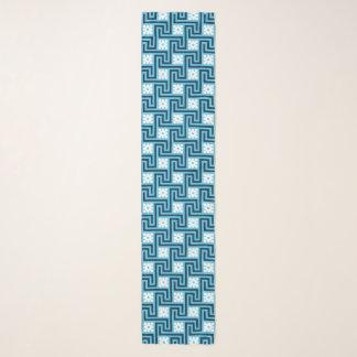 Foulard Clé grecque de Deco, bleu de ciel et marine