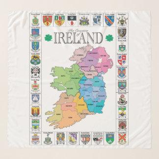 Foulard Comtés d'écharpe de l'Irlande Chifon