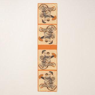 Foulard Conte de fées japonais la copie de moineau de