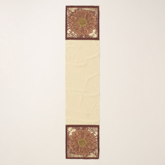 Foulard Copie, Brown et Tan de bloc de marguerite de