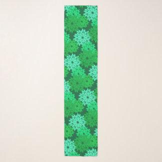 Foulard Copie de kimono, émeraude et vert de jade floraux