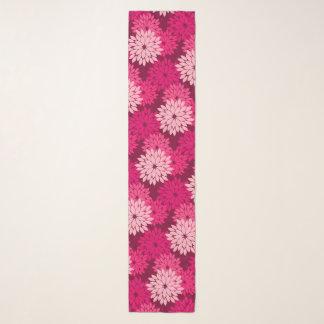 Foulard Copie florale moderne de kimono, rose de corail et