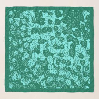 Foulard Copie, turquoise et Aqua japonais de feuille