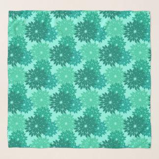 Foulard Copie, turquoise, Teal et Aqua floraux modernes de