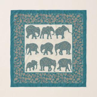Foulard Éléphants de Paisley d'amusement, Paisley et