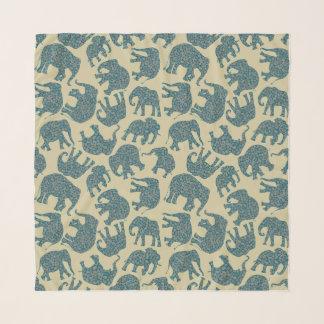 Foulard Éléphants Ditzy de Paisley d'amusement sur le