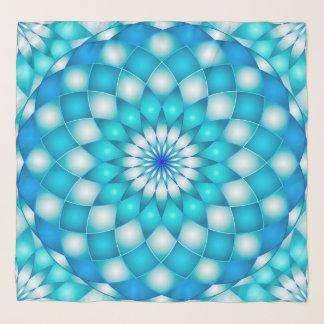 Foulard Fleur de Lotus carrée d'abrégé sur mandala