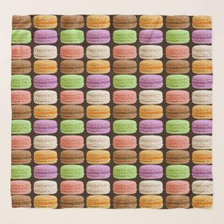 Foulard Français Macarons, pastels multicolores