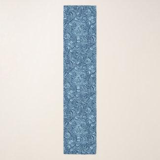 Foulard Indigo de William Morris et bleu de ciel indiens