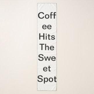 Foulard Le café frappe la tache douce