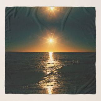 Foulard Lever de soleil à la plage