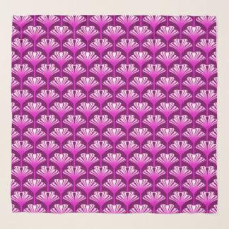 Foulard Lis d'art déco, pourpre d'améthyste et orchidée