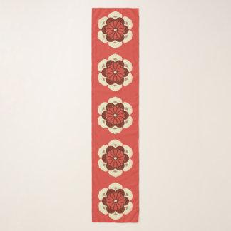 Foulard Mandala de fleur de Lotus, mandarine