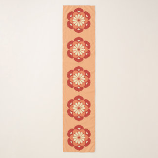 Foulard Mandala de fleur de Lotus, orange en pastel et